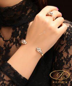 دستبند و انگشتر کارتیه ببر (تایگر Tiger) - gold, gold-bracelets-and-rings