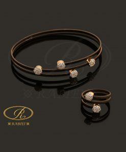 دستبند و انگشتر ژیران (تمام طلا)