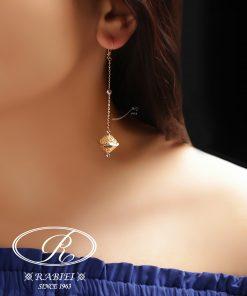 گوشواره لازین - gold-earring, gold