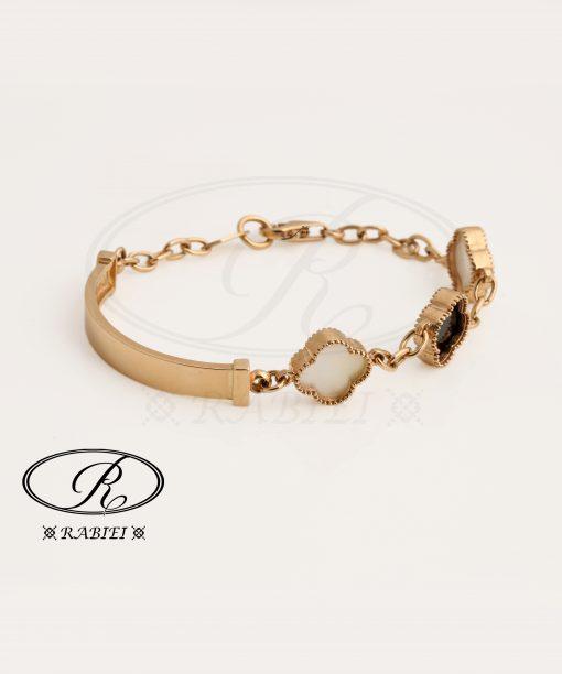 دستبند ونکلیف سفید و مشکی