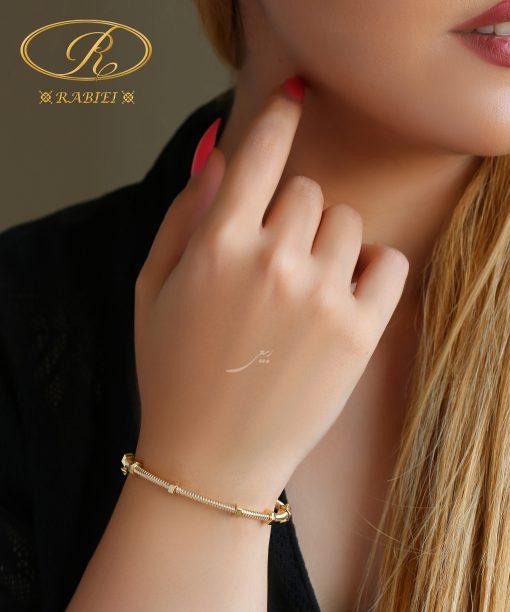 دستبند النگویی کارتیه مهره ای