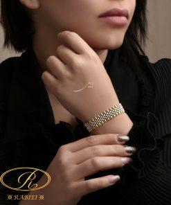دستبند رولکس سفید زرد