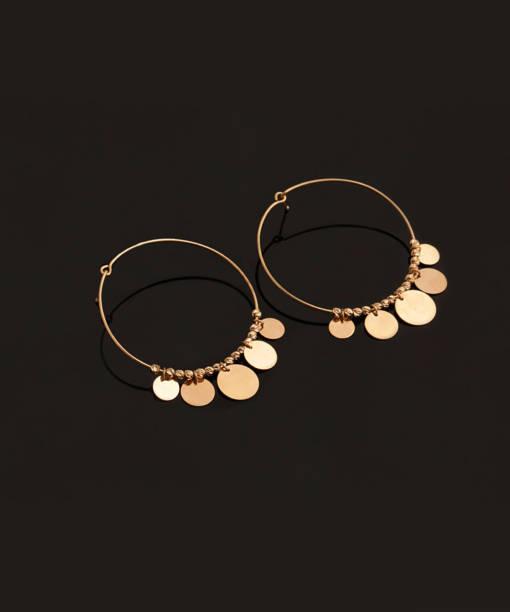 گوشواره حلقه ای کارلا - gold-earring, gold