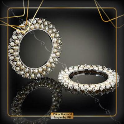 جفت دستبند الماس (Pair of Diamond Bangles by JAR)