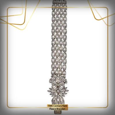 دستبند (Rare 18th Century Fleece Bracelet)قرن 18 میلادی