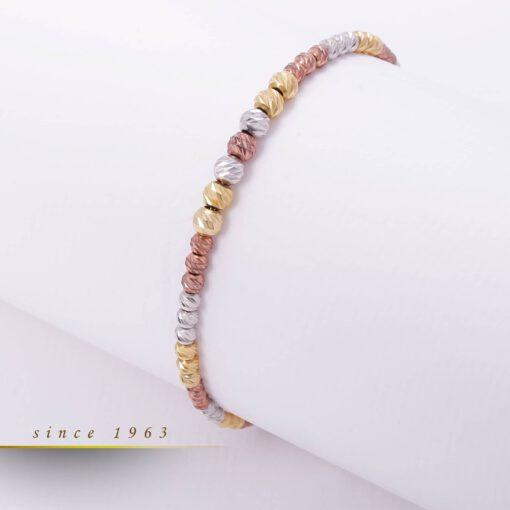 دستبند طرح مهره ای