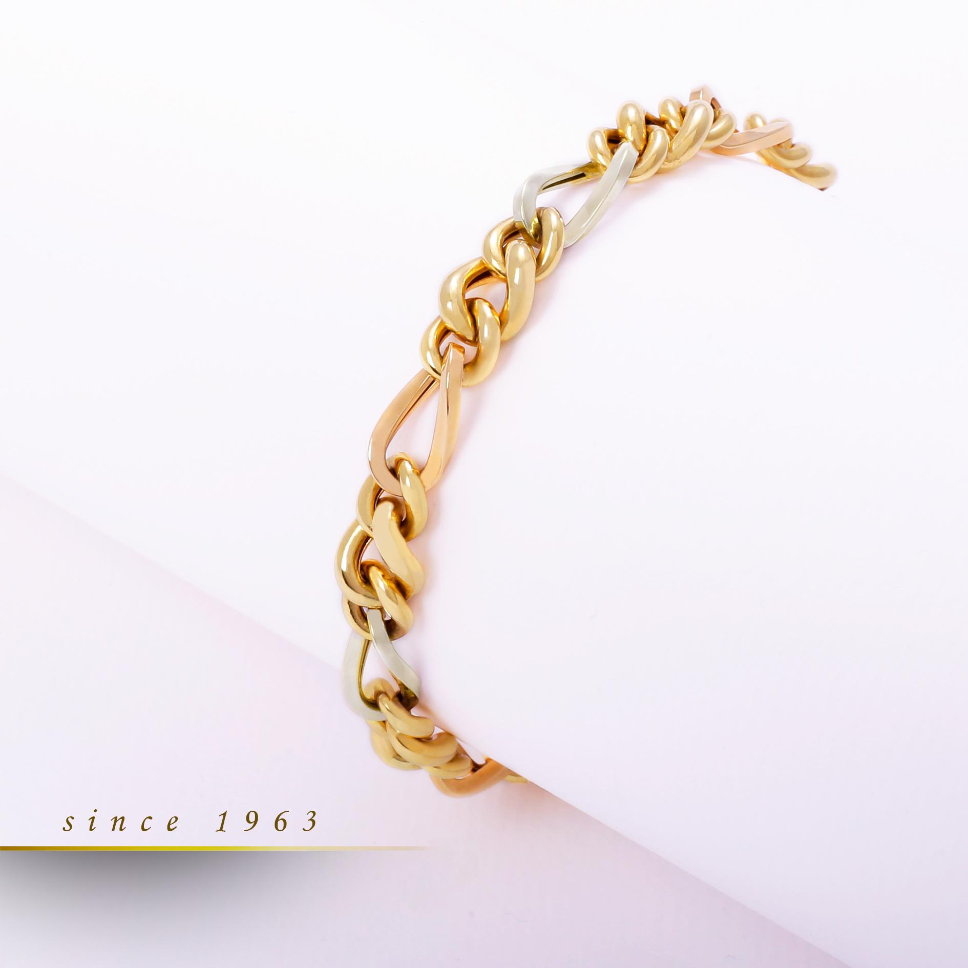 گالری ربیعی - خرید آنلاین طلا - خرید طلا لوکس -, , دستبند زنجیری کاتینا