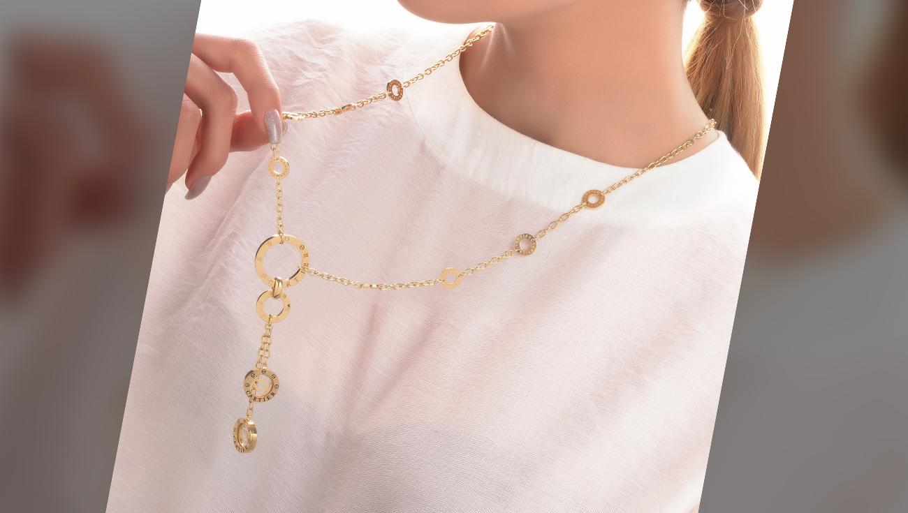 چطور در زمان کرونا از گالری طلا ربیعی خرید کنیم؟, blog-2, گردنبند رو لباسی لویی ویتون