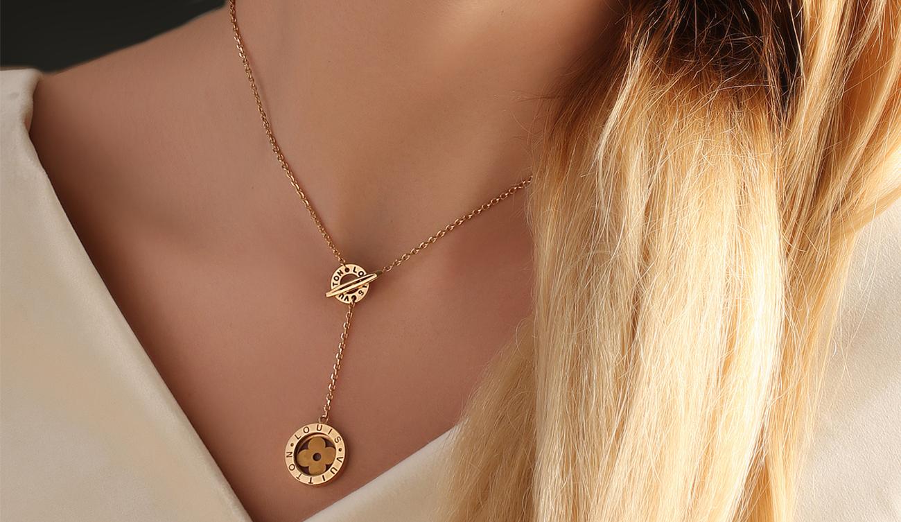 گردنبند لویی ویتون گالری طلا ربیعی