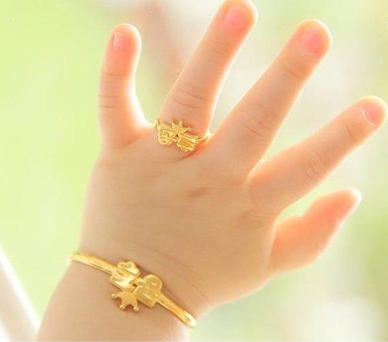 انگشتر طلا برای کودک
